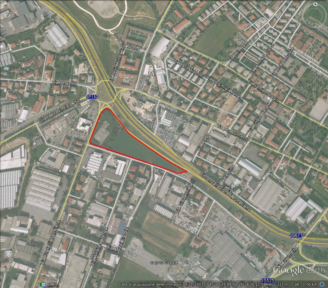 Bergamo zona nuovo ospedale – terreno commerciale terziario