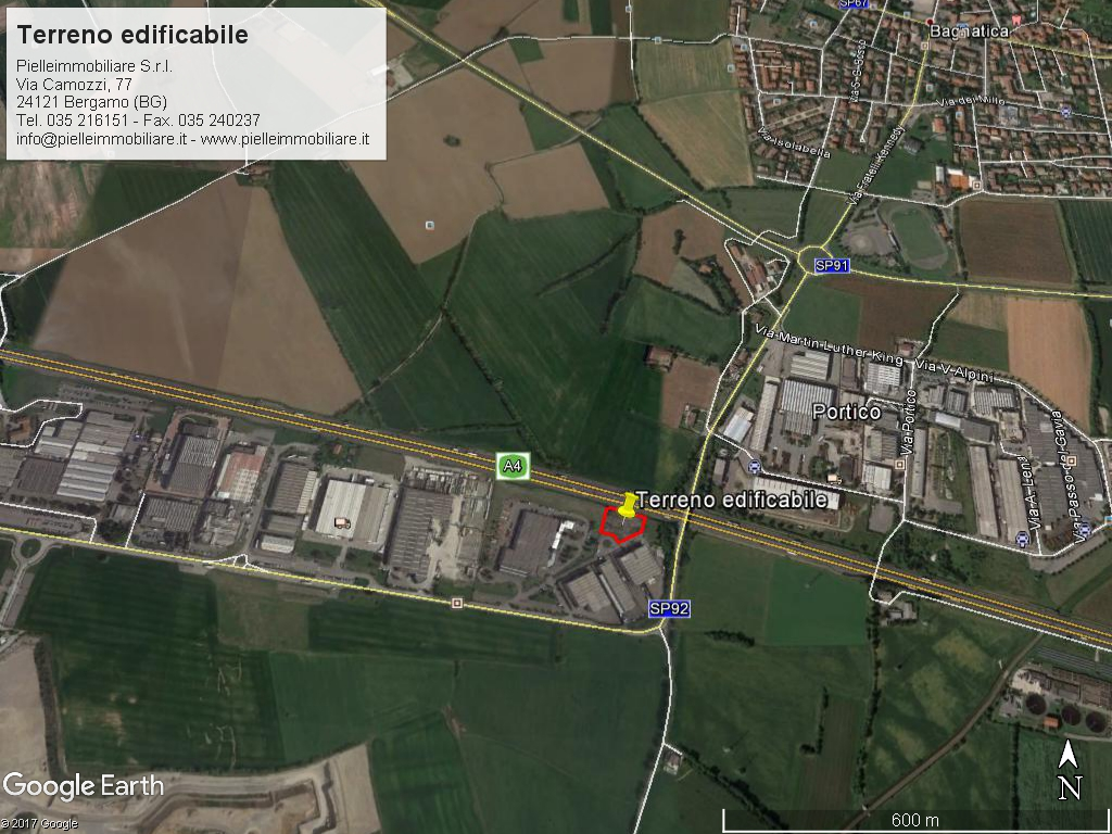 Bagnatica fronte autostrada A4 – terreno industriale
